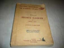 ANNA LISA PERSONAL SCRIPT HEDDA GABLER HENRIK IBSEN DRAMA IN FOUR ACTS