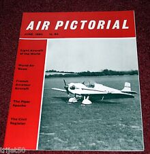 Air Pictorial 1960 June Bf109,French Homebuilts,Piper PA23 Apache,He112,Viscount