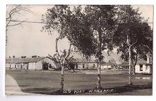 Wyoming real photo postcard Old Fort Washakie U.S. Army