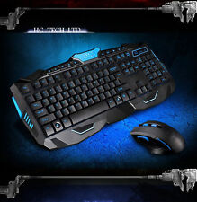 UK Wireless Multimedia Usb Gaming Keyboard + 2.4GHz 6 Buttons Cordless Mouse Set