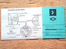 Reparaturhandbuch Reparaturanleitung Simson  Mofa 1 IFA NEU mit Schaltplan A4