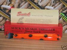 Suick Round Bellied Muskie Thriller with Collector Box - Orange & Black - Musky