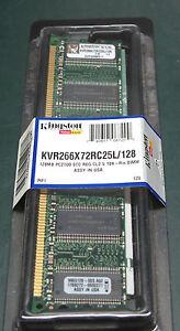 Kingston KVR266X72RC25L128 (128 MB, DDR RAM, 266 MHz, DIMM 184-pin)