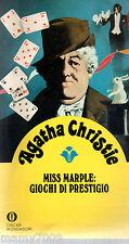 AGATHA CHRISTIE= Miss Marple: giochi di prestigio=GIALLI OSCAR MONDADORI=6/1980