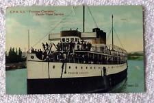 1915 POSTCARD C P R S S PRINCESS CHARLOTTE SHIP BOAT PACIFIC COAST #4C