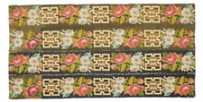 """Floral Victorian Needlepoint Rug 19th Century 5 X 2'7"""""""