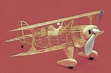 Pitts Special #111 Herr Balsa Wood Model Airplane Kit Rubber Powered