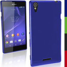 Glossy TPU Gel Skin Case Cover for Sony Xperia T3 D5102 5103 5106 + Screen Prot