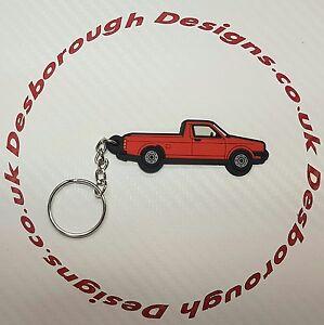 VW Golf Mk1 Caddy Key Ring Red