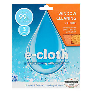 e-cloth Window and Glass Cleaning Polishing Pack - 2 Cloths