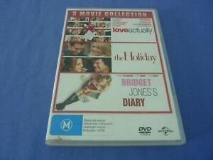 Love Actually / The Holiday / Bridget Jones's Diary DVD 2,4 Free Postage