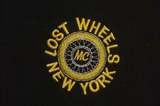 MOTORCYCLE CLUB LOST WHEELS NEW YORK STITCHED LOGO OLD STOCK T-SHIRT LARGE