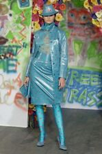 Runway D&G DOLCE & GABBANA Fall 2000 Blue Turquoise Trench Ladybugs IT 42 US 6
