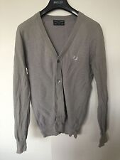 Made In Italy - Fred Perry Sportswear Collection Grey Cardigan S Small 38