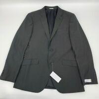 New Nordstrom rack mens jacket blazer black Sz 42L Polyester z 602