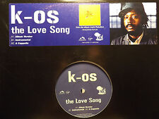 "K-OS - THE LOVE SONG (12"")  2004!!!  RARE!!!  JOYFUL REBELLION!!!"