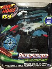 Air Hogs Sharp Shooter Helicopter Remote Control Missile Launcher