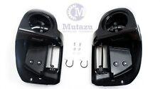 """Vivid Black Lower Vented Fairing 6.5"""" Speaker Box Pod for 2014-up Harley Touring"""