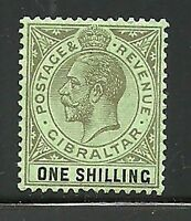 Album Treasures Gibraltar Scott # 84  1sh George V Mint Hinged