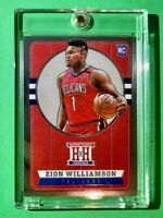 Zion Williamson ROOKIE HOMETOWN HEROES PANINI CHRONICLES 2020 RC PELICANS - Mint
