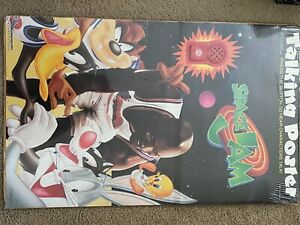 VINTAGE TALKING MICHAEL AIR JORDAN SPACE JAM MOVIE POSTER 1996 BUGS TWEETY TAZ