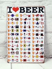 Vintage Metal Tin Signs Beer Funny Pub Home Art Wall Decor Poster Plaque Plate