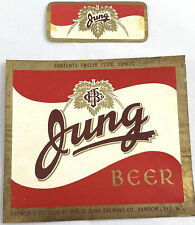 Vintage WM. G. Jung Beer Bottle Can Label Random Lake Wisconsin Neckband