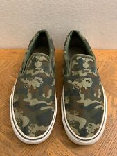 VANS Low Camouflage Army Skull Skateboarding Shoes Men's Size 12