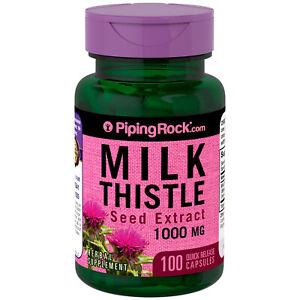 CARDO MARIANO 1000 mg 100 Capsulas - milk thistle - extracto semillas