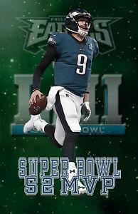 Philadelphia Eagles Lithograph print of  Nick Foles  Super Bowl 52 MVP 11 x 17