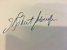 New listing J. Robert Schrieffer Nobel Prize Physics 3 x 5 Card Signed 1980 Rare