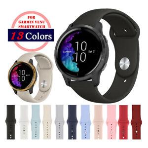 Quick Release Soft Silicon Sport Watch Band Strap For Garmin Venu 2 / Venu