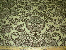 ~2 6/8 Yds~Flowers~Part Chenille Embroidered Upholstery Fabric~Fabric For Less~