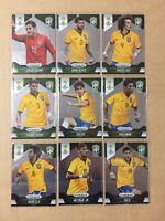 2014 PANINI PRIZM WORLD CUP, BRAZIL TEAM SET. (INCLUDES NEYMAR JR CARD #112).