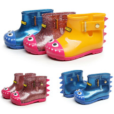 Boys Girls Wellies Wellington Boots Kids Cute Shoes Dinosaur Jelly Rain Boots UK