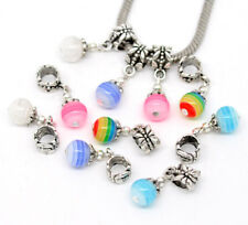 20 European Mix Antiksilber Harz Resin Dangle Perlen Beads 25x8mm FL