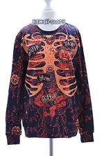 Ty-f1334 Body squelette Bones steam punk rétro sweatshirt pull Harajuku