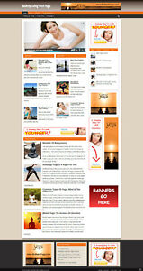 YOGA UK AFFILIATE WEBSITE WITH BANNERS + FREE DOMAIN & HOSTING