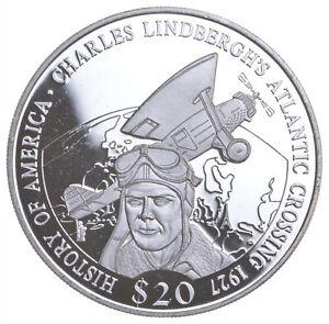 SILVER - WORLD COIN - 2001 Liberia 20 Dollars - World Silver Coin *737