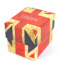 EMPTY UNION JACK GIFT BOX LONDON FOR WATCHES BRACELETS JEWELERY FEEL EXPENSIVE