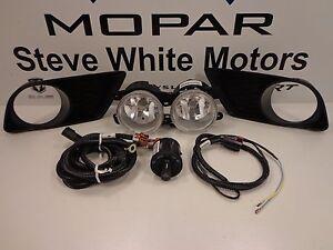 11-14 Dodge Charger New Complete Fog Lamp Light Kit Mopar Factory Genuine Oem