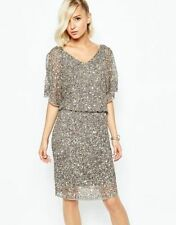 Sequin Short Sleeve Regular Dresses Midi
