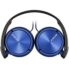 Sony Foldable Stereo Headphones Metallic Blue Over-ear Head Headset MDR-ZX310 PC