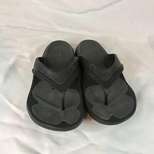 Crocs Dual Comfort Black Flip Flop Thong Sandals Mens  11