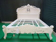 BESPOKE Super King CREAM Ivory  Hand carved from mahogany solid wood Rococo Bed