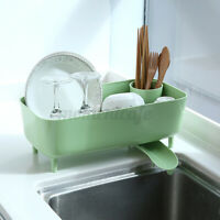 Kitchen Dish Drying Rack Storage Organizer Fork Spoon Bowl Holder Drain