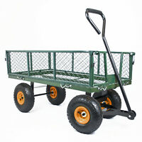 GARDEN TROLLEY and Sack Liner All Terrain Gravel Soil Gardening Wheelbarrow Cart