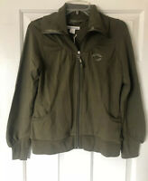 Cutter And Buck Chicago Bears Women's Army Green Full Zip Hoodie Size Small-NWT