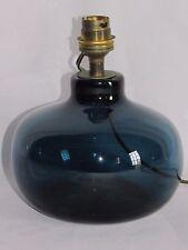 01D20 ANCIENNE LAMPE VERRE SOUFFLE BLEU DESIGN 1970 SIGNE CLAUDE MORIN DIEULEFIT