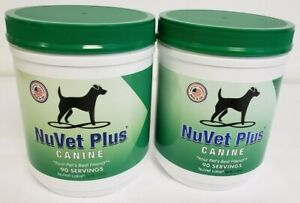 2-NuVet Plus Canine 90 servings~Sealed~Exp 08/22 and Exp 08/22 Free Ship(b9)